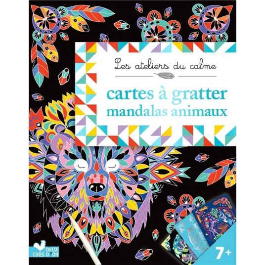 CARTES A GRATTER MANDALAS ANIMAUX