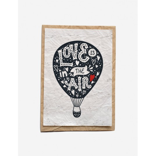CARTE À PLANTER - LOVE IS IN THE AIR