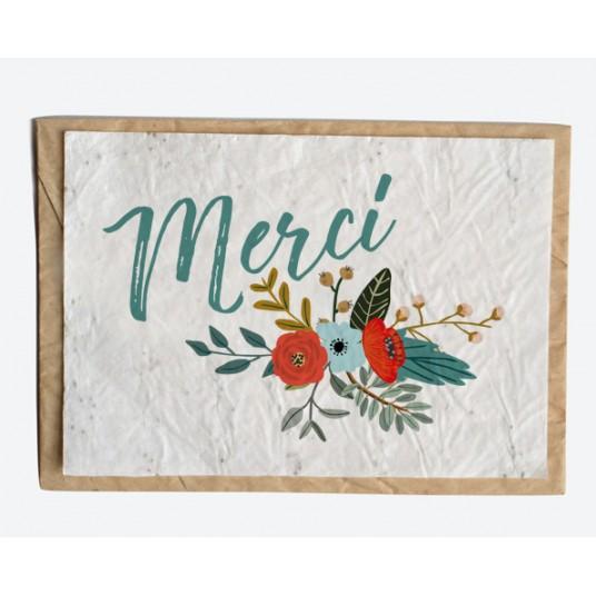CARTE À PLANTER - MERCI FLEURI